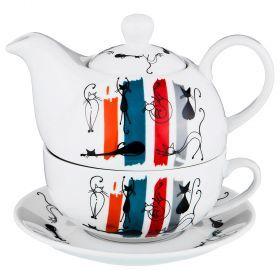Чайный набор на 1 персону 3 пр. 450/300мл. (кор=16набор.)-151-130