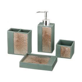 Набор для ванной комнаты 4 пр.:дозатор+подставка для мыла, подставка для зубных щеток,стакан (кор=6н-765-549
