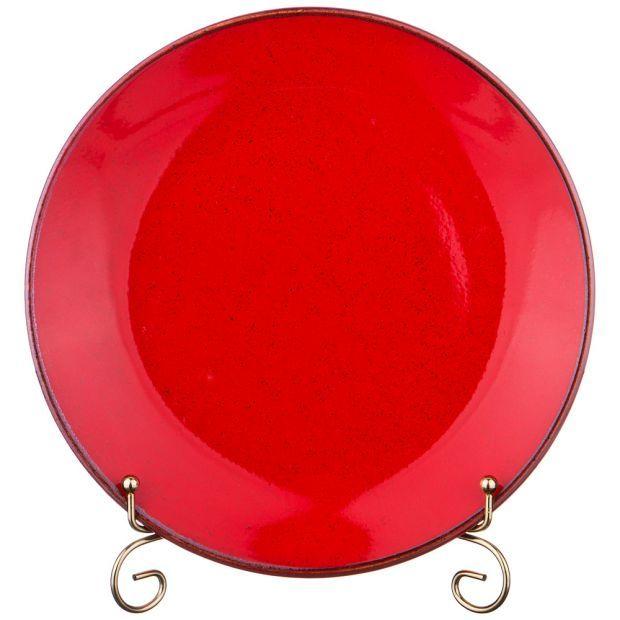 Тарелка seasons плоская 24 см цвет красный (кор=12шт.)-664-196