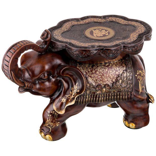 """Подставка-слон """"активная жизненная позиция"""" 63*32 см. высота=42 см.-114-343"""