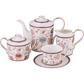 Чайный сервиз на 6 персон 15 пр. 900/200/400/350 мл.-264-797