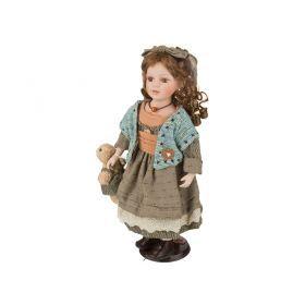 Фарфоровая кукла с мягконабивным туловищем высота=45 см.-485-225