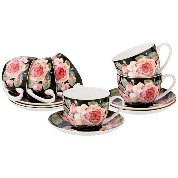 """Чайный набор """"винтаж"""" на 6пер. 12пред 330мл (кор=4наб.)-415-2053"""