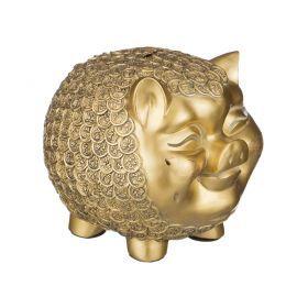 Фигурка свинья в золотых монетах 26*19 см. высота=21 см.