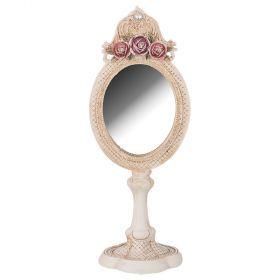 Зеркало настольное 24*10 см размер зеркала 8*7 см (кор=24шт.)-504-229