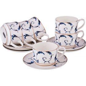 Чайный набор на 6 персон 12 пр. 240 мл.-264-780