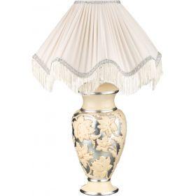 Светильник настольный + абажур бежево-серебряный е27 диаметр=50 см. высота=72 см.-313-051