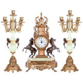 Набор:часы+2 подсвечника  циферблата=10 см.-292-016