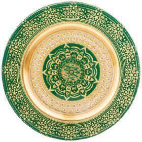 Тарелка «jasmin» green 28 cm-339-170