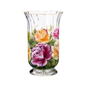 Ваза декоративная розы бордовые классические высота 25=см-135-5016