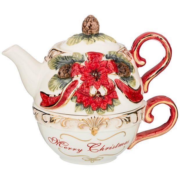 "Набор 2 пр. чайник и чашка коллекция ""christmas"" 500/350 мл 19*12,5*15 см-848-010"