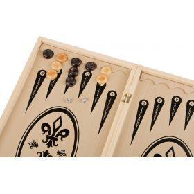 Игра для взрослых шахматы+шашки+нарды 48*24*4 см.