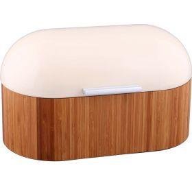 Хлебница деревянная с металлической крышкой 34*20*19 см.-938-005