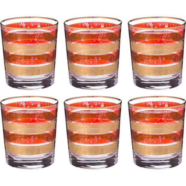 Набор стаканов из 6 шт.300 мл.высота=9,5 см.-103-478
