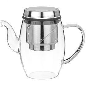 Заварочный чайник с фильтром нжс 800 мл, жаропрочное стекло-884-046