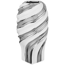 Ваза декоративная серебряная коллекция 16*16*33 см-699-303