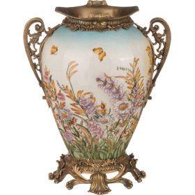Декоративная ваза 24*19 см. высота=31 см.-469-244