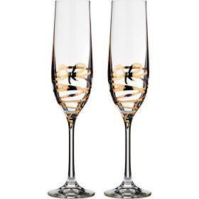 Набор бокалов для шампанского из 2 шт. 190 мл.высота=24 см.-674-569