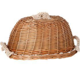 Хлебница с крышкой овальная в комплект входит салфетка 35*25 см.-119-207