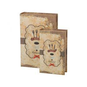 Комплект шкатулок-книг из 2 шт.27*18*7/21*13*5 см.-184-333