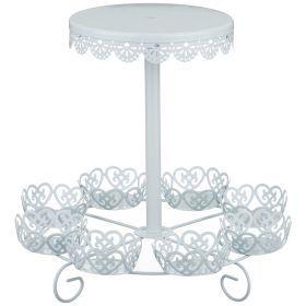 Подставка для торта и пирожных 2-х ярусная диаметр=29 см.высота=26 см.-39-556