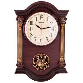 Часы настенные кварцевые с маятником 57*38*7 см. диаметр циферблата=23 см.-204-197