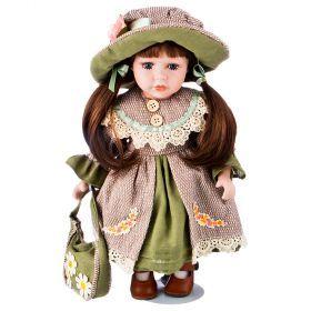Кукла фарфоровая высота=30 см.-346-256