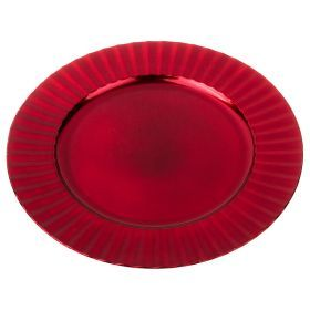Пластиковая подстановочная тарелка 33*33*2 см. без упаковки-505-062