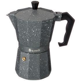 Кофеварка гейзерная, 300 мл на 6 чашек (кор=36шт.)-944-006