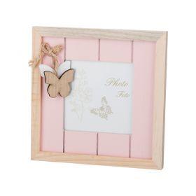 Фоторамка розовая коллекция весенний винтаж 17*17*1,5 см