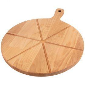 Доска для пиццы с ручкой на 6 кусков, диаметр=32 х 1,8 см-896-127