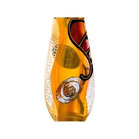 Ваза декоративная абстракция оранжевая высота=30 см-135-5008