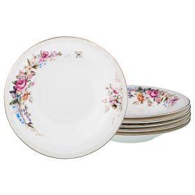 Набор из 6-ти суповых тарелок диаметр=23 см (кор=8набор.)-115-313