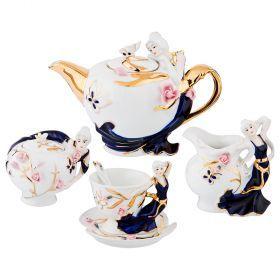 Кофейный набор на 6 персон 15 предметов 950/250/250/150 мл. с ложками-98-1582