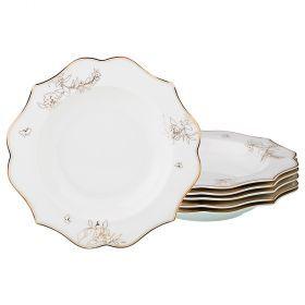 Набор из 6-ти суповых тарелок диаметр=21,5 см (кор=8набор.)-115-319