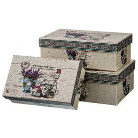Набор подарочных коробок из 3 шт. диаметр 20/17,5/14 см. высота 8,5/6,5/5,5 см.-37-265
