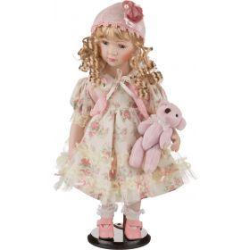 Фарфоровая кукла с мягконабивным туловищем высота=41 см. (кор=12шт.)-485-047