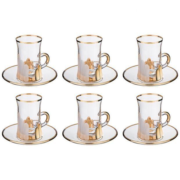 Кофейный набор на 6 персон 12пр. 100 мл. высота=8 см.-103-573