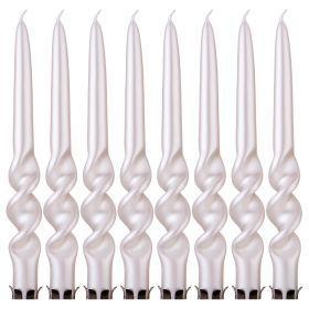 Набор свечей из 8 шт. металлик перламутровый-348-633