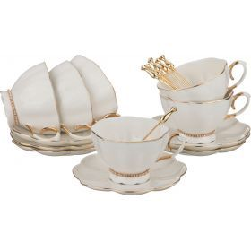 Чайный сервиз на 6 персон с ложками 18 пр.250 мл.-779-151