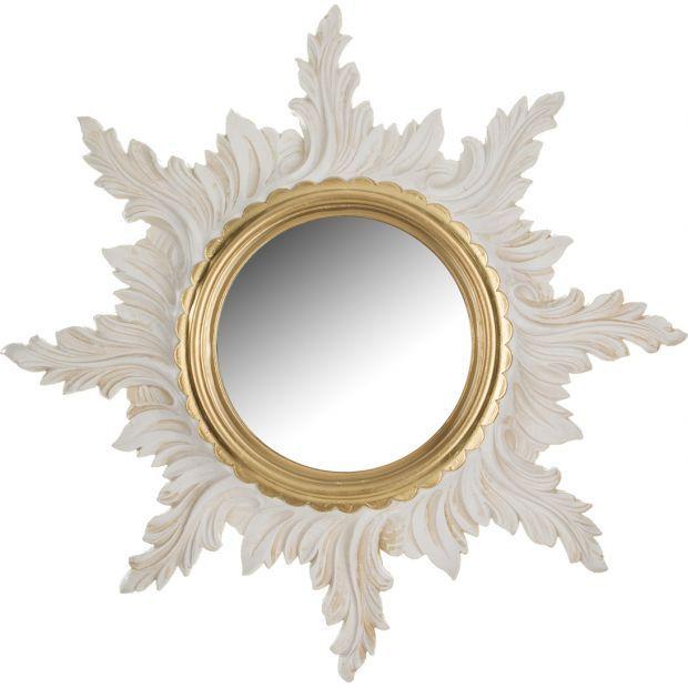 Зеркало настенное белое диаметр=50/18 см.-290-002