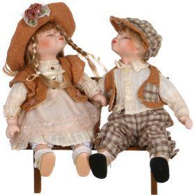 Набор фарфоровых кукол из 2 шт.