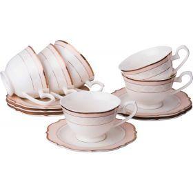 Чайный набор на 6 персон 12 пр.210 мл.-115-271