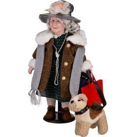 Кукла фарфоровая высота=45 см.-346-022