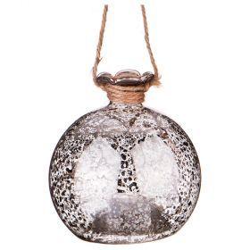 """Декоративное изделие """"шар золотой блеск"""" с подсветкой диаметр=8 см-862-254(Товар продается кратно  6шт.)"""
