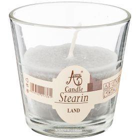 Свеча ароматическая стеариновая в стакане land диаметр 7,5 см высота 7,5-348-801
