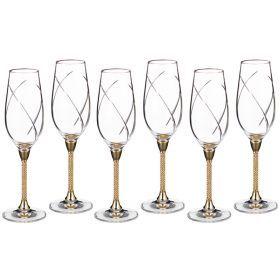 Набор бокалов для шампанского из 6 шт. 250 мл.высота=25 см.-661-025