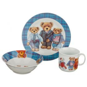 Обеденный набор на 1 персону 3 пр: тарелка 2шт+чашка 200 мл-356-096