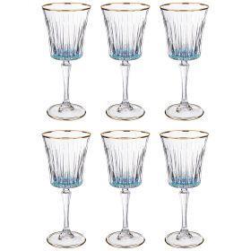 Набор бокалов для вина из 6 шт. 250 мл. высота=21 см.-103-587