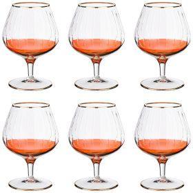 Набор бокалов для коньяка из 6 шт. 350 мл. высота=14 см.-103-597